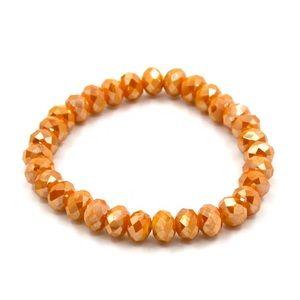 NWT • orange beaded stretch bracelet